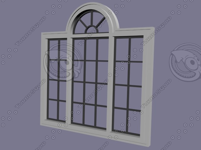 3d model window set