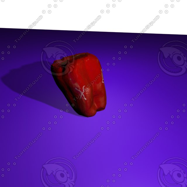 3d model red pepper