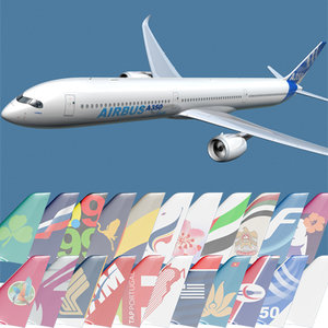 3d 3ds a350-1000 airlines