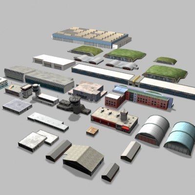 3d buildings airports model