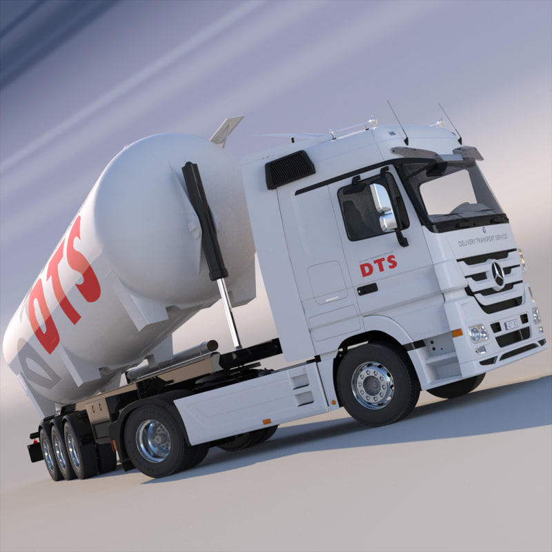 mercedes actros tipping silo 3d model