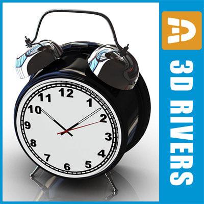 3d obj alarm clock