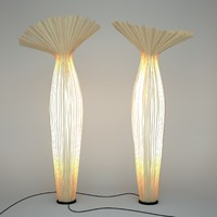 3d morning floor lamp aqua