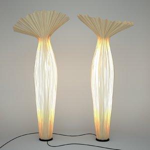 3d morning floor lamp aqua