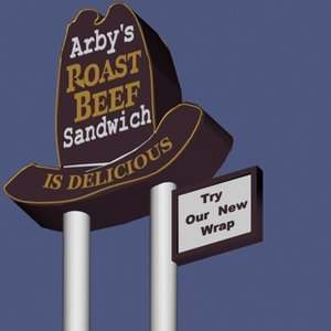 3d sign arby