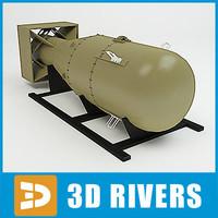 20th century atomic bomb 3d model