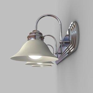 3d model bathroom light