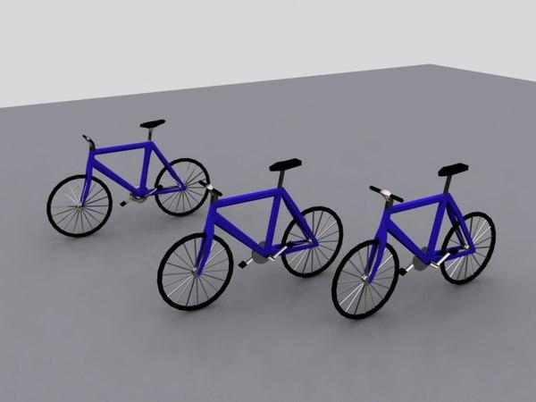 free bike 3d model