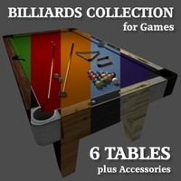 billiards pool tables 3d model