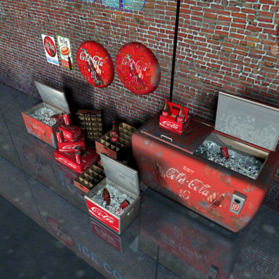 3ds max brick walls cola cooler