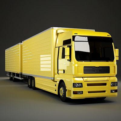 3d tga trailer model