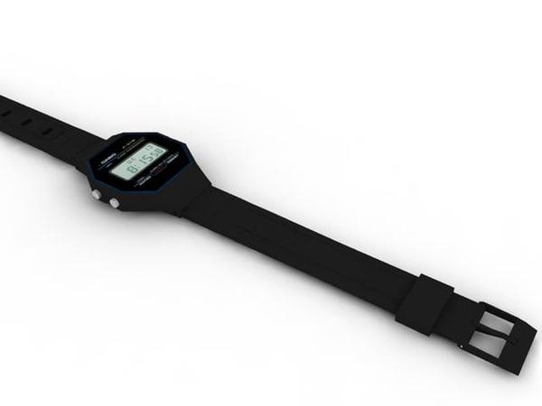 casio watches 3d max