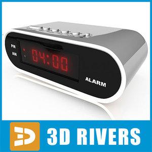 digital clock 3d 3ds