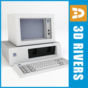 3d personal computer pc model