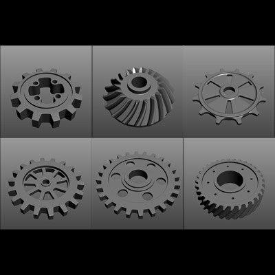set gears 3d model