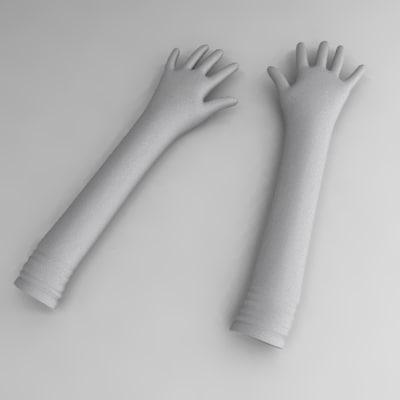 3d model gloves