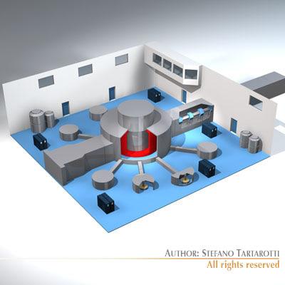 3d model isis neutron accelerator