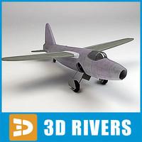turbojet jet plane 3d max
