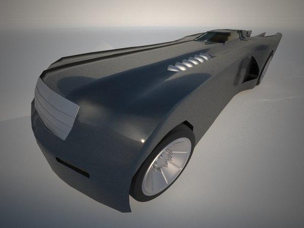 batmobile series 3d model