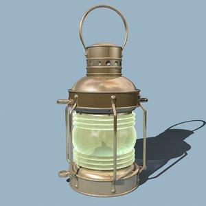ship anchor lamp 3d model