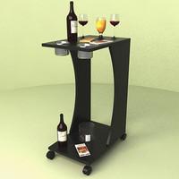 3d wine food juice