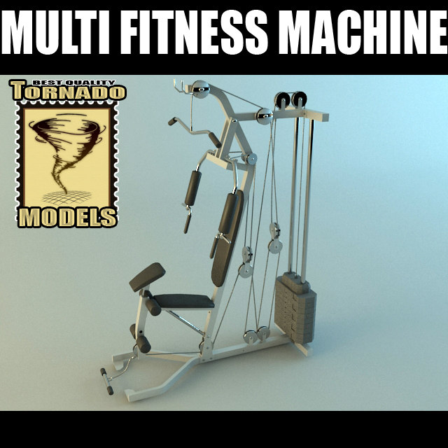 3d multi fitness machine scene model