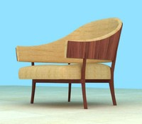 rosewood chair 3d max