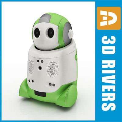 japanese toy robot papero 3d obj