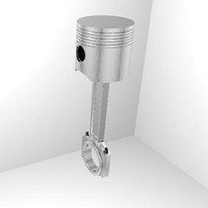 piston engine 3d obj