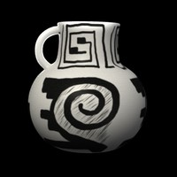 3d prehistoric vase model