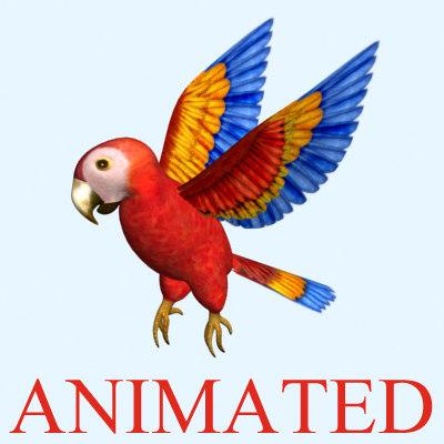 parrot bird 3d max