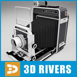 3d model graflex retro camera