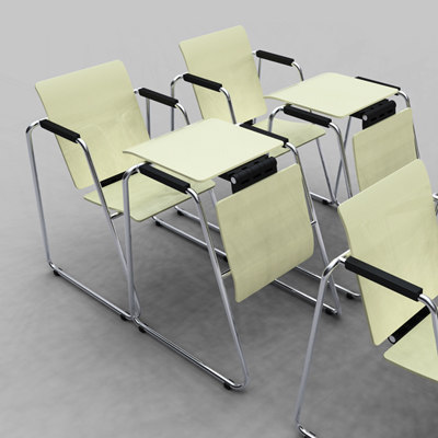 3dsmax seattable seat table furniture