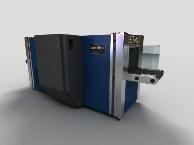airport scanning machine 3d model
