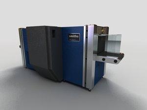 airport scanning machine 3d model