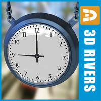 3ds max street clock stations