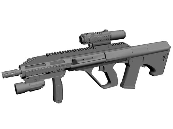 aug rifle steyr 3d model