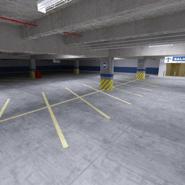 3ds max underground parking lot