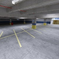 3ds max underground parking lot