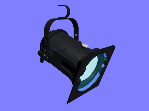 3d model theatre light