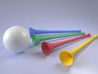 vuvuzela soccer 3d model