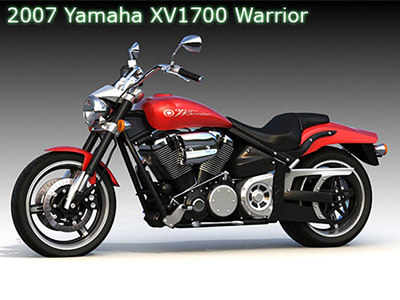 yamaha road star 3d model