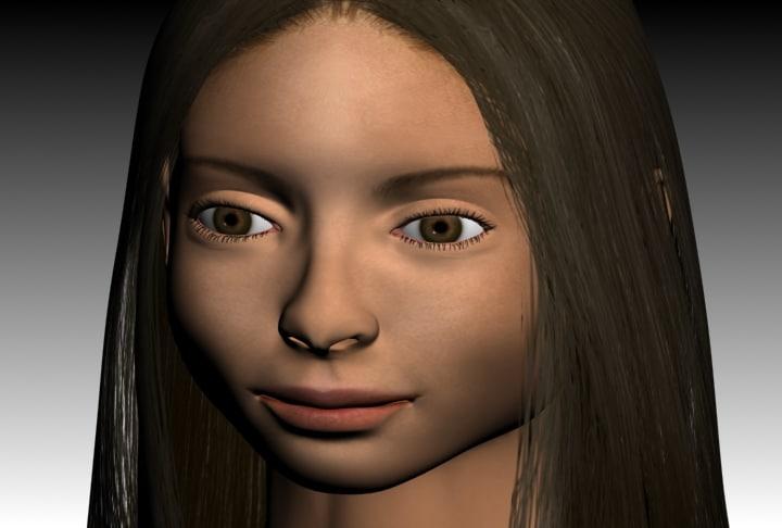 kristin head 3d model