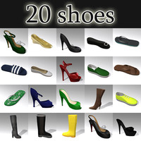 20 shoes 3d 3ds