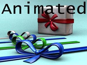 gift ribbon 3d model
