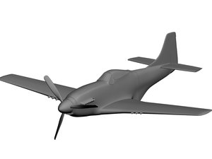 3d p-51 mustang model
