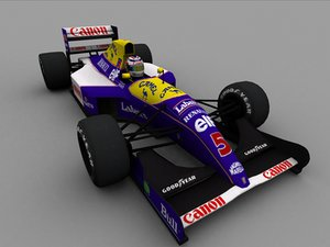 williams f1 1991 3d model