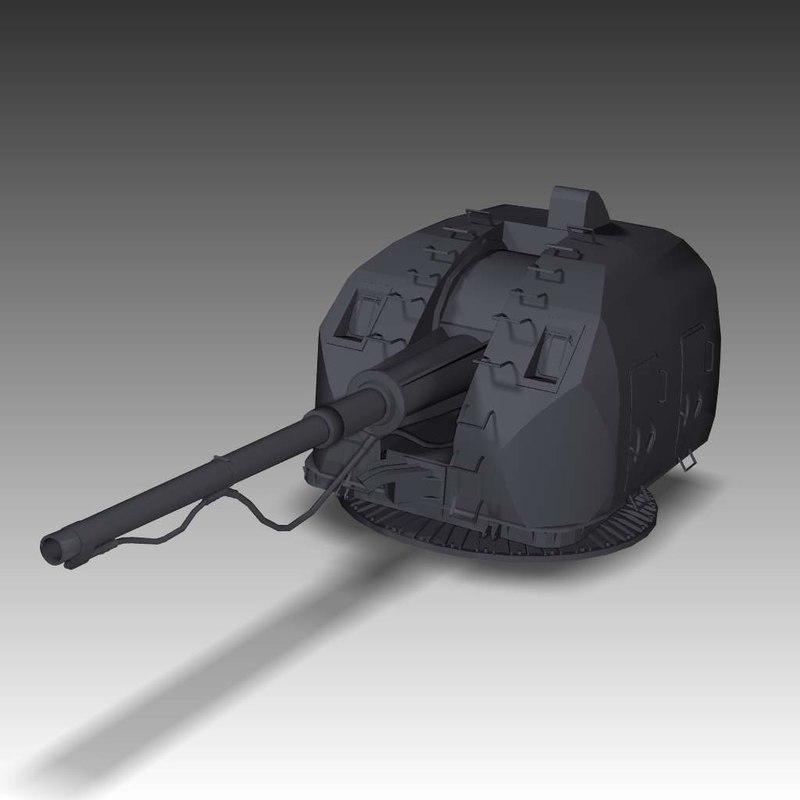 free gun a-190 3d model