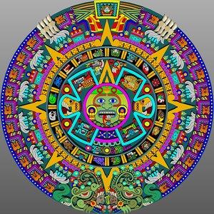 aztec calender sunstone 3d dwg