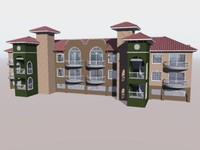 3d condominium apartment barrel model